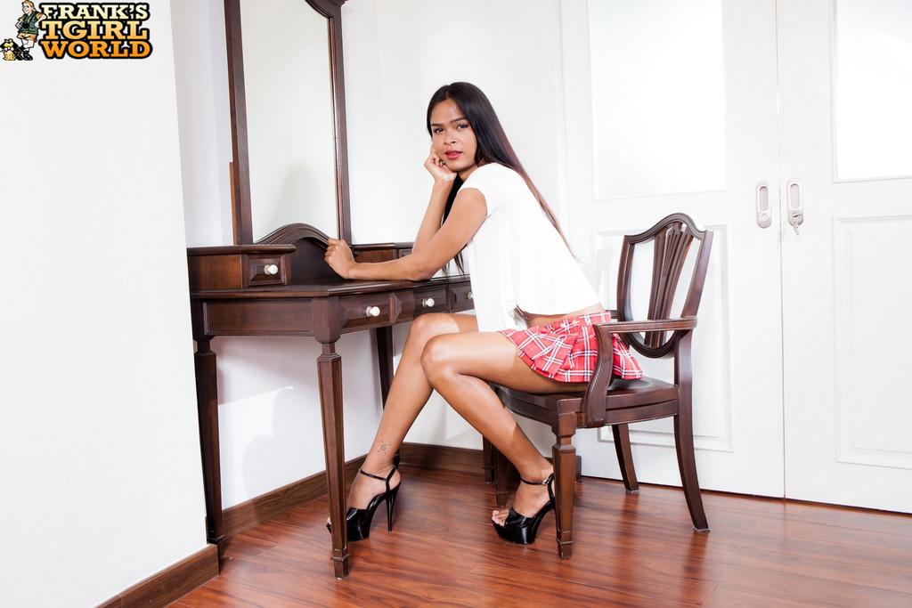 Asian Femboy Schoolgirl Bi