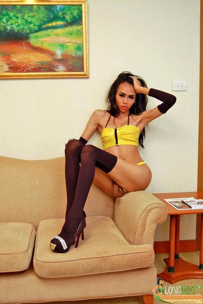 Asian T-Girl Long Mint - Yellow Pvc Yppeg