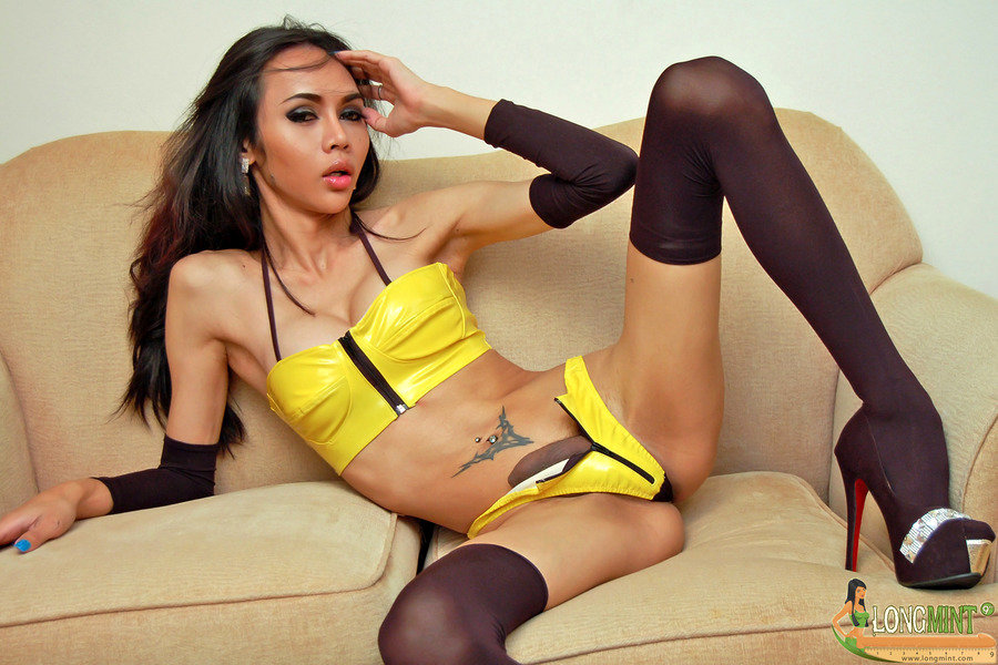 Asian T-Girl Long Mint - Yellow Pvc Yppeg