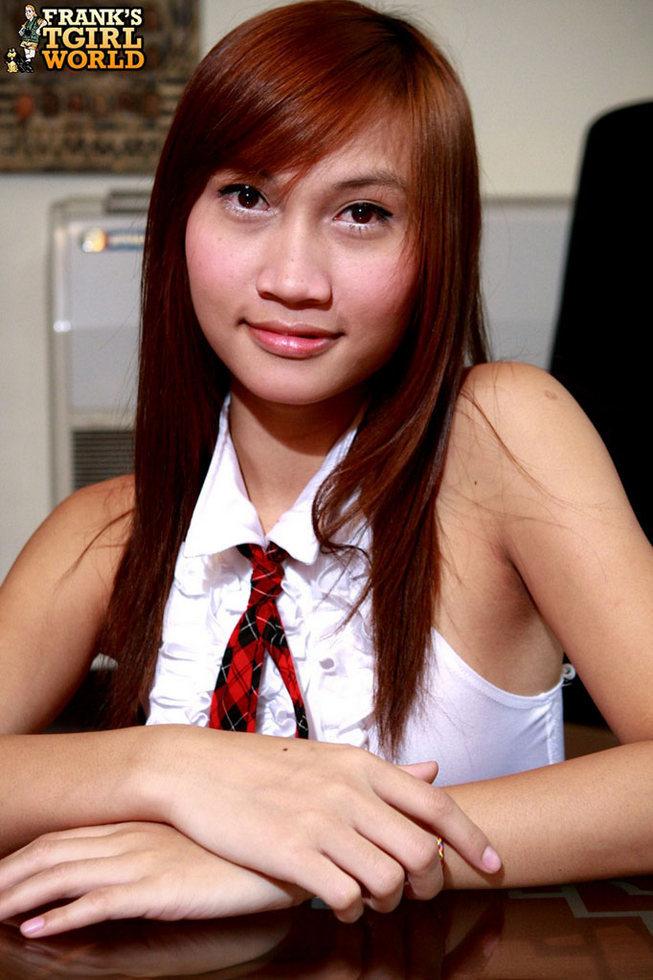 Asian Tgirl Schoolgirl Ink