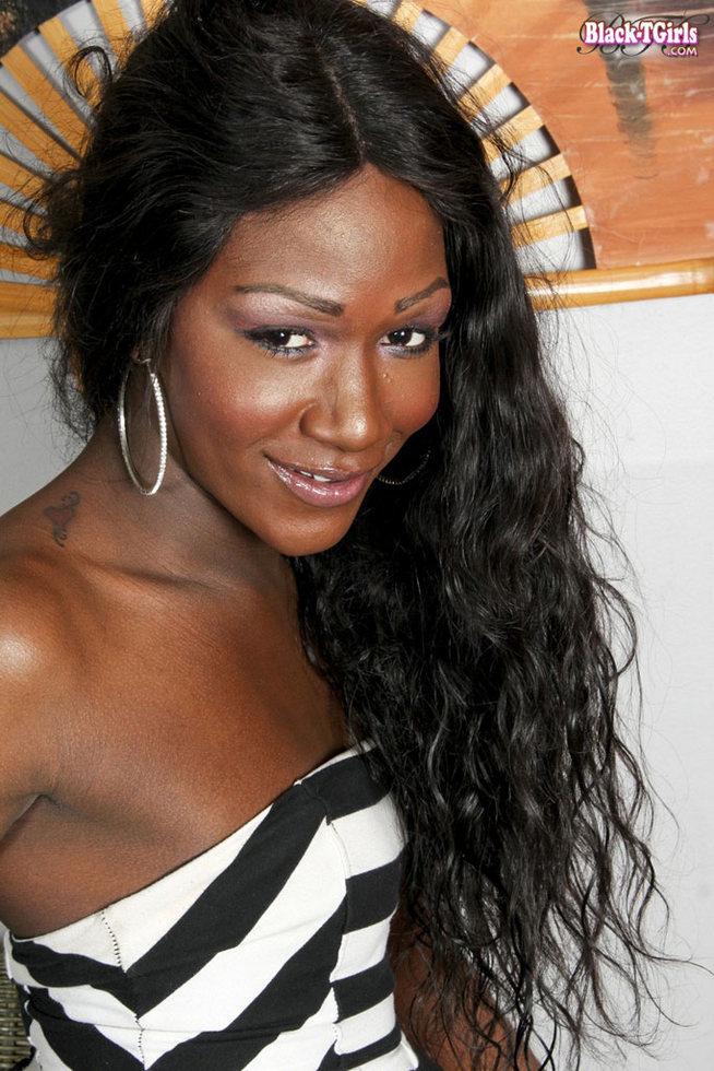 Black T-Girl Named China