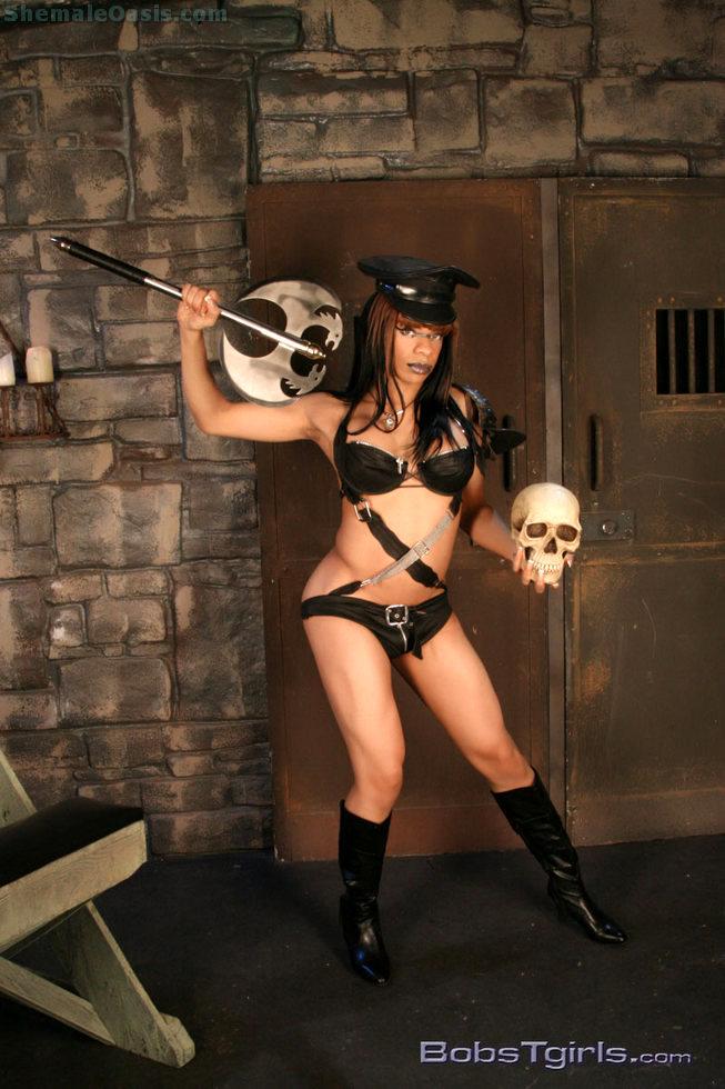 Black Tgirl Sasha Jerks - Sasha Stroke's Dungeon