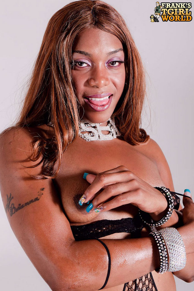 Black Transexual Cinnamon - Cinnamon Pantyhose Honey