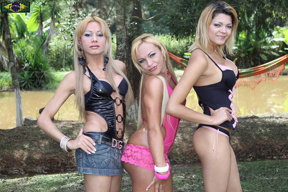 Brazilian Ladyboys Gisely, Agatha & Carla
