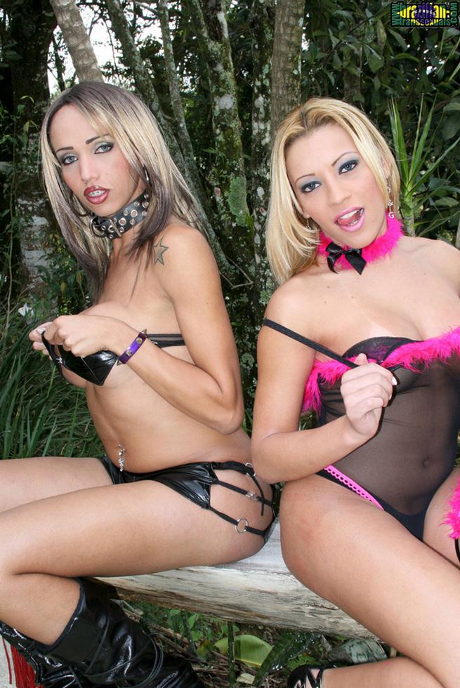 Brazilian Tgirls Aline Santos & Leona