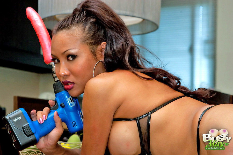 Busty T-Girl May - Mistress Drill Npdxb