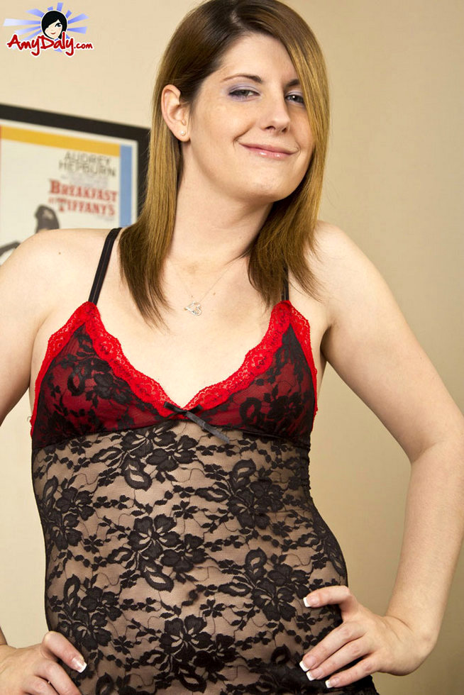 Femboy Amy Daly - Lacy Lingerie