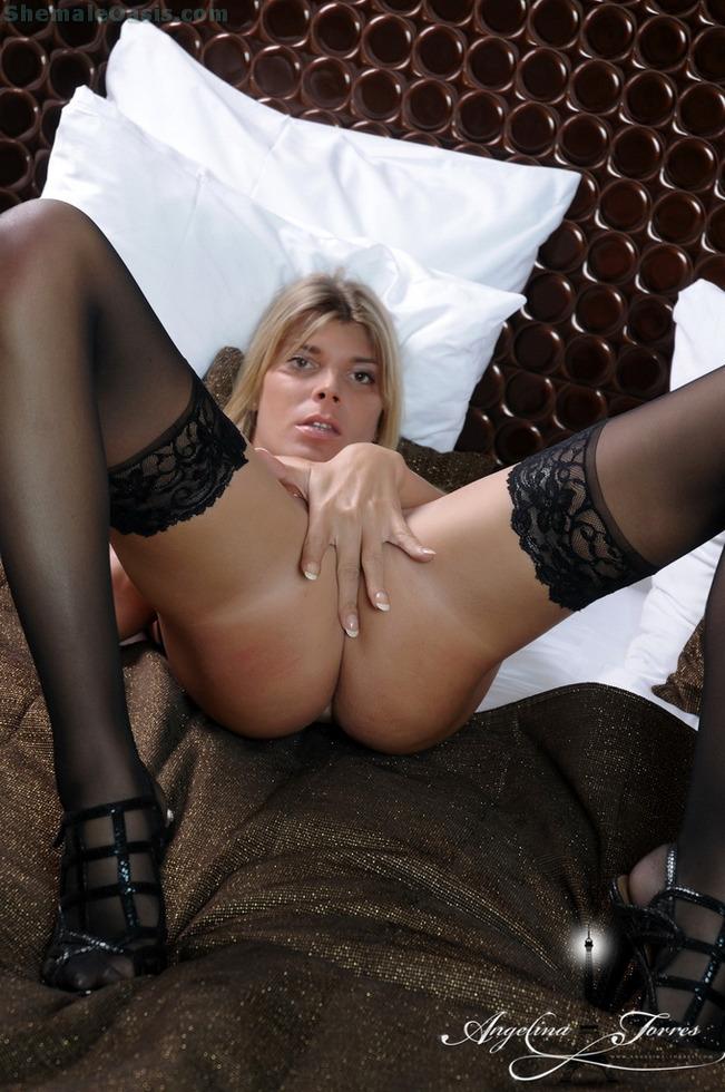 Femboy Angelina Torres - Angelina Bed