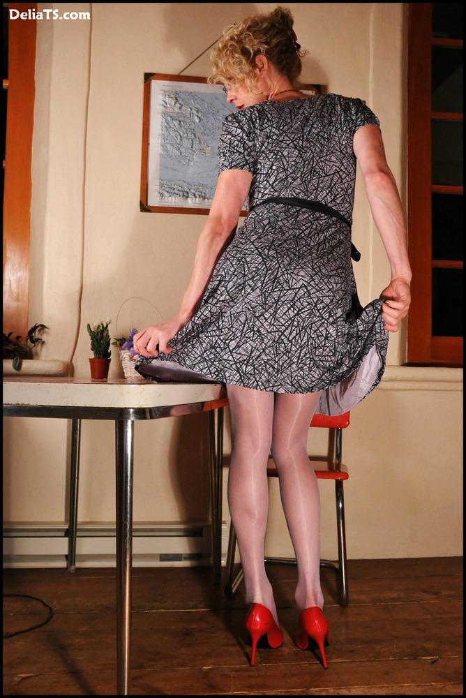 Femboy Delia In Pantyhose