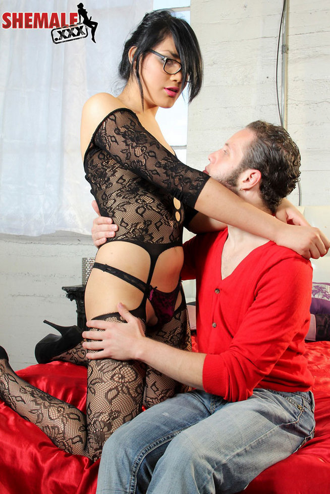 Femboy Yazlene Reyes - Yazlene Reyes Fishnet Stockings Blowjob Tfd