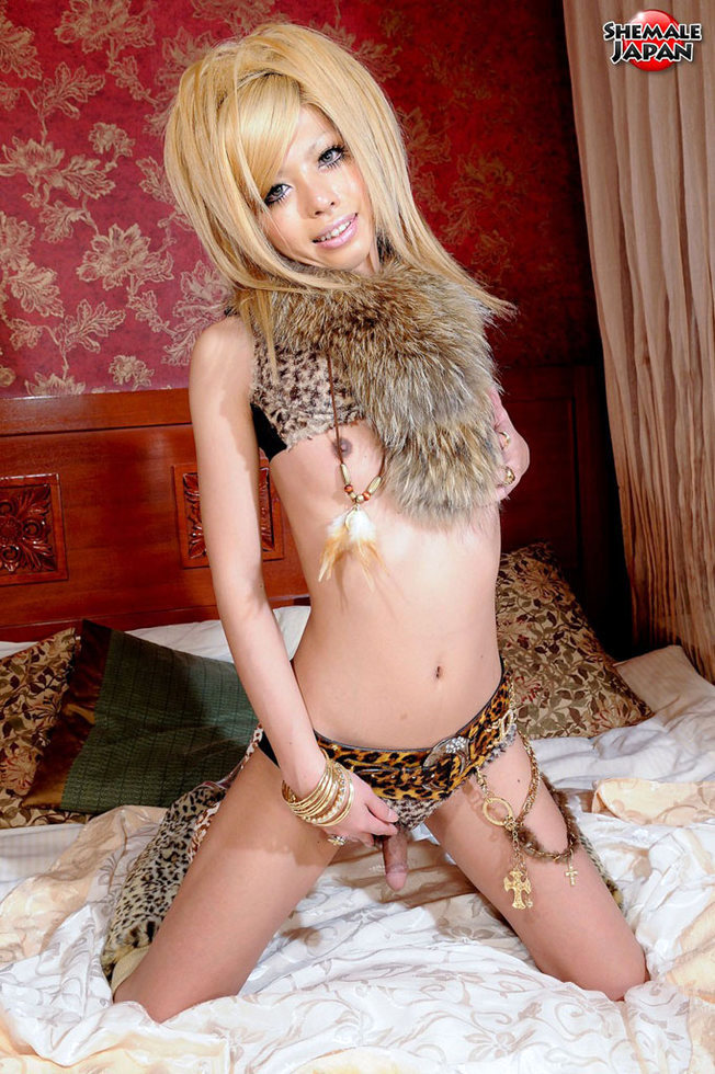 Japanese Ladyboy Cocoa - Cocoa Leopard Lingerie N Fur