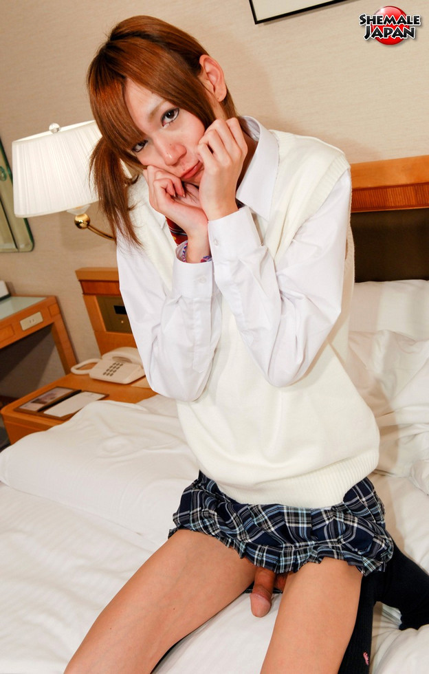 Japanese T-Girl Miki - Miki Shy Schoolgirl Upskirt