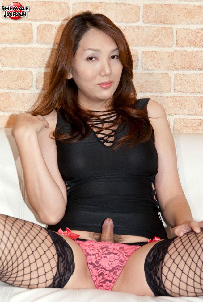 Japanese T-Girl Nozomi Shirahama - Nozomi Fishnets N Lacy Panties