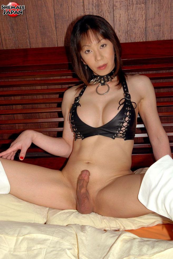 Japanese Tgirl Akane - Akane Mistress In Leather Lingerie