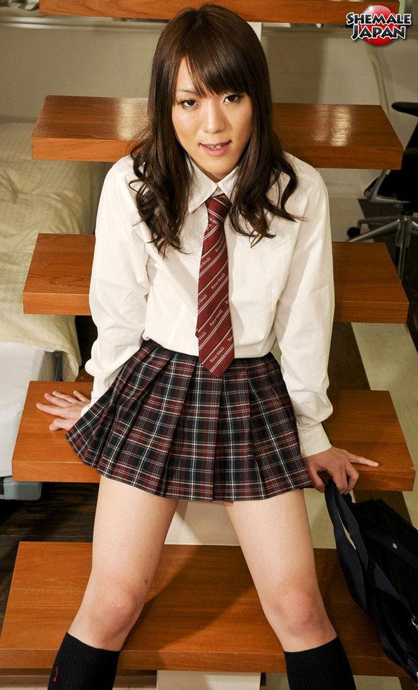 Japanese Tgirl Akane - Akane Schoolgirl Upskirt