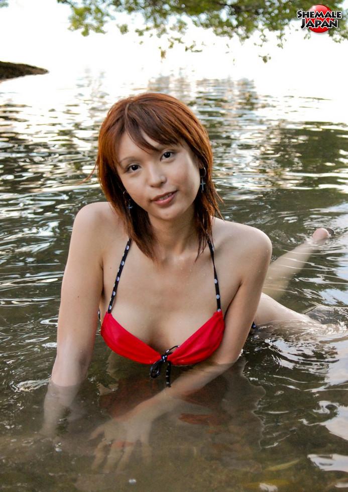 Japanese Tgirl Emiru - Emiru Bikini On The Nature