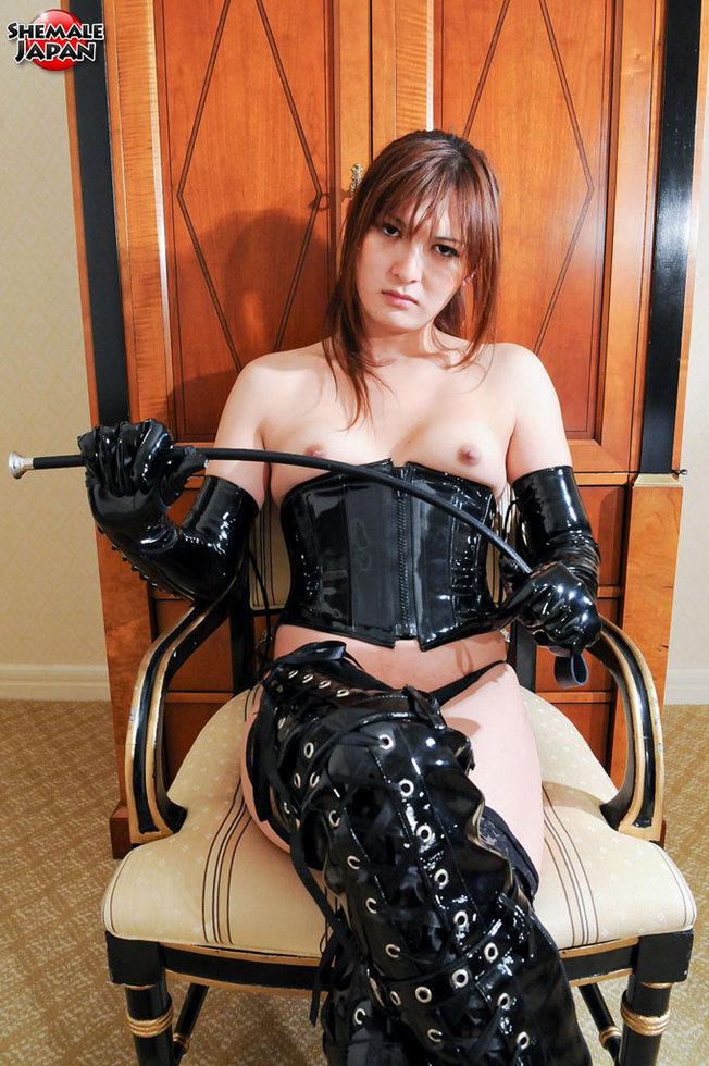 Japanese Tgirl Mao - Mao Pvc Mistress With Whip