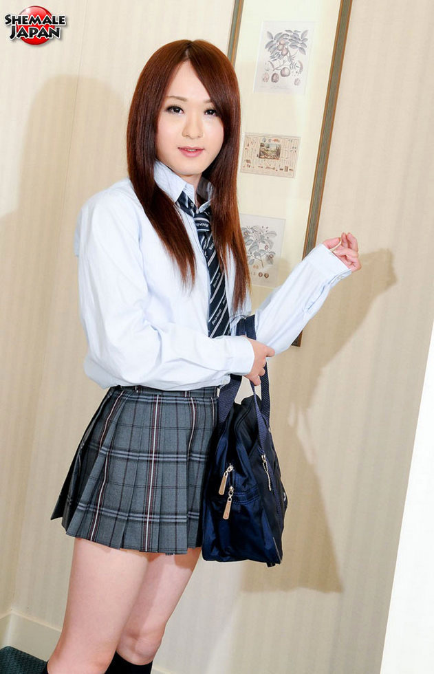 Japanese Transexual Emi - Emi Schoolgirl Upskirt