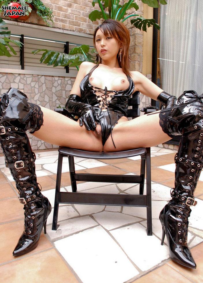 Japanese Transexual Emiru - Emiru Latex Slut