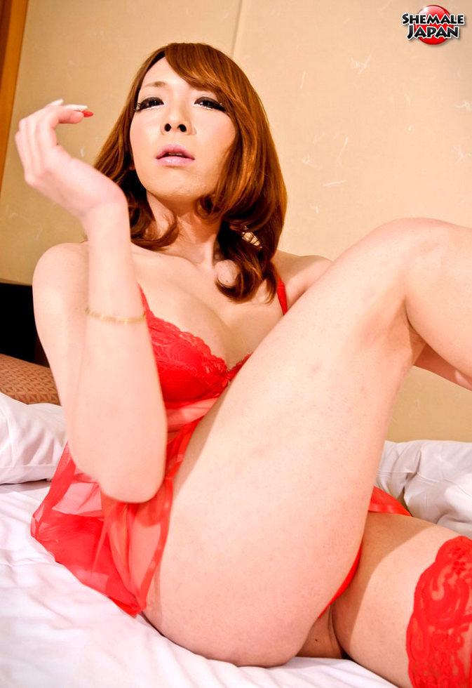 Japanese Transexual Fuuka - Fuuka Red Lingerie