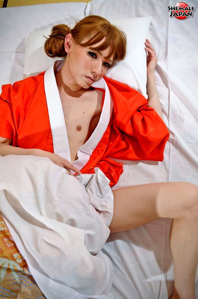 Japanese Transexual - Masturbating Off