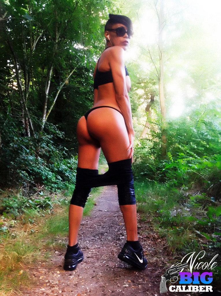 Ladyboy Nicole BIG Caliber! - Outdoorsblack