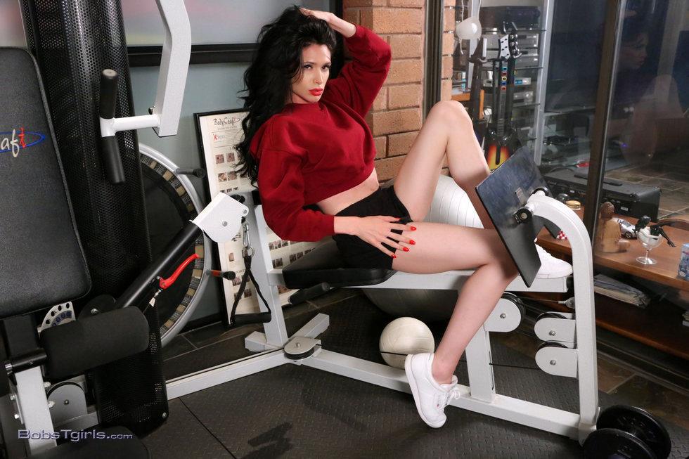 Ladyboy Penny Tyler - Penny Tyler Workout And Sperm