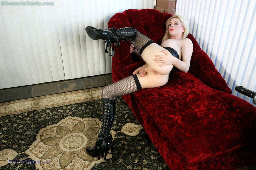 Ladyboy Tyra Scott - Tyra Scott Boots And Stockings