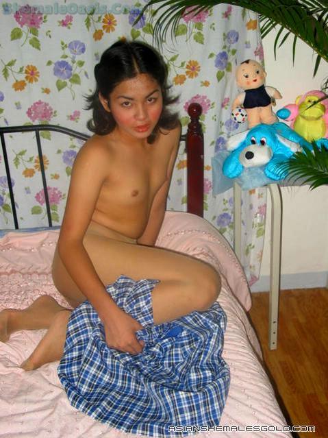 Pantyhosed Thai Ladyboy