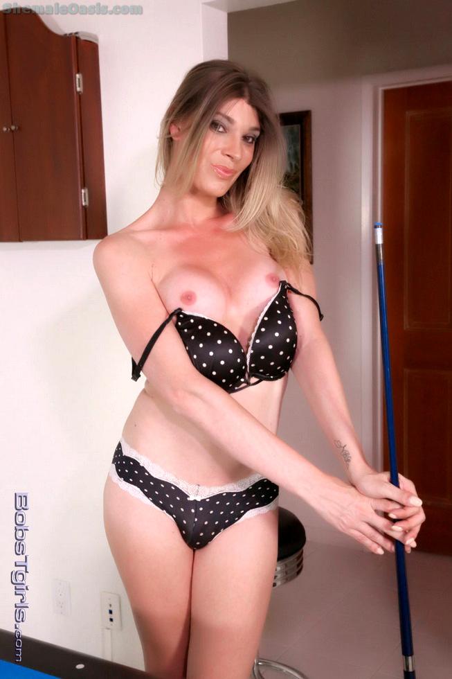 T-Girl Angelina Torres - Angelina Torres Polka Dot Bikini