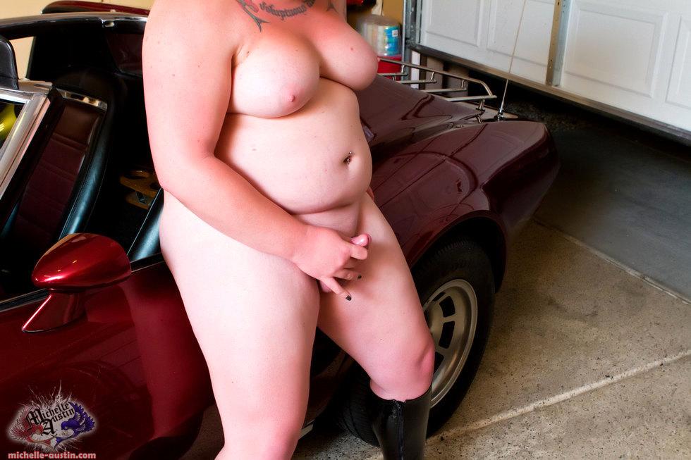 T-Girl Michelle Austin - Corvette Fun