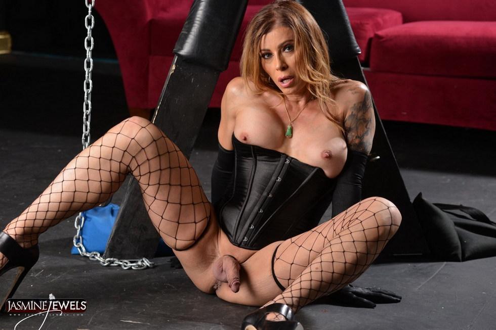T-Girl MILF Jasmine Jewels - Jasmine In Chains
