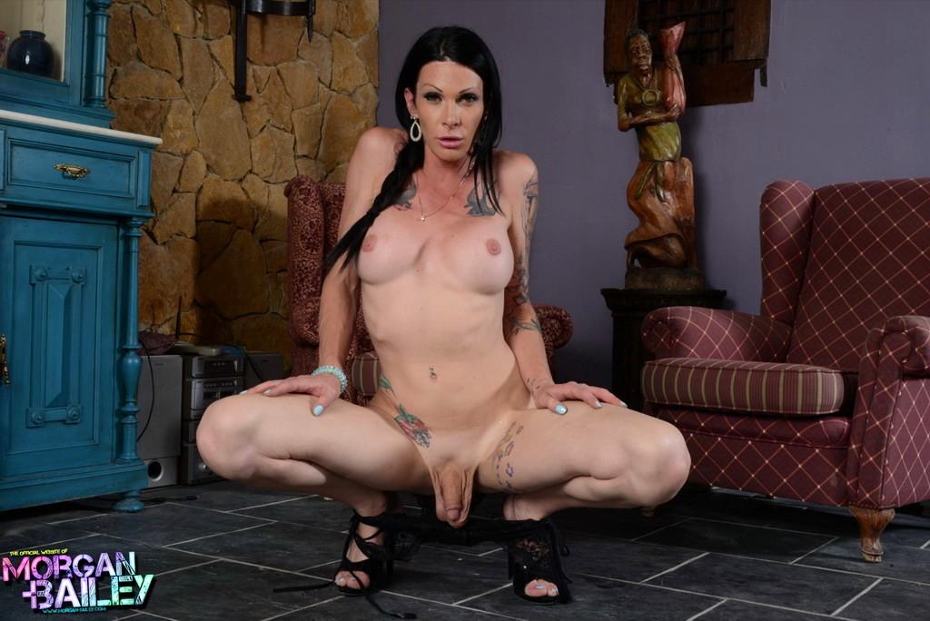 T-Girl Morgan Bailey - Lace Panties Make Me Nasty
