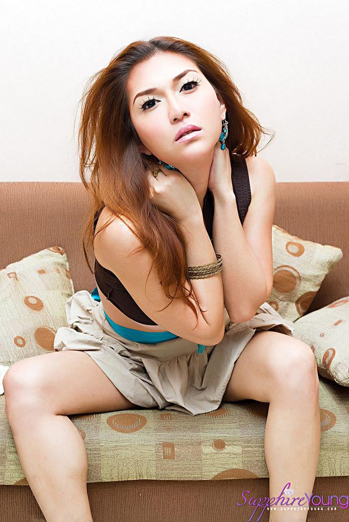 T-Girl Sapphire Young - Blacktop Newpics