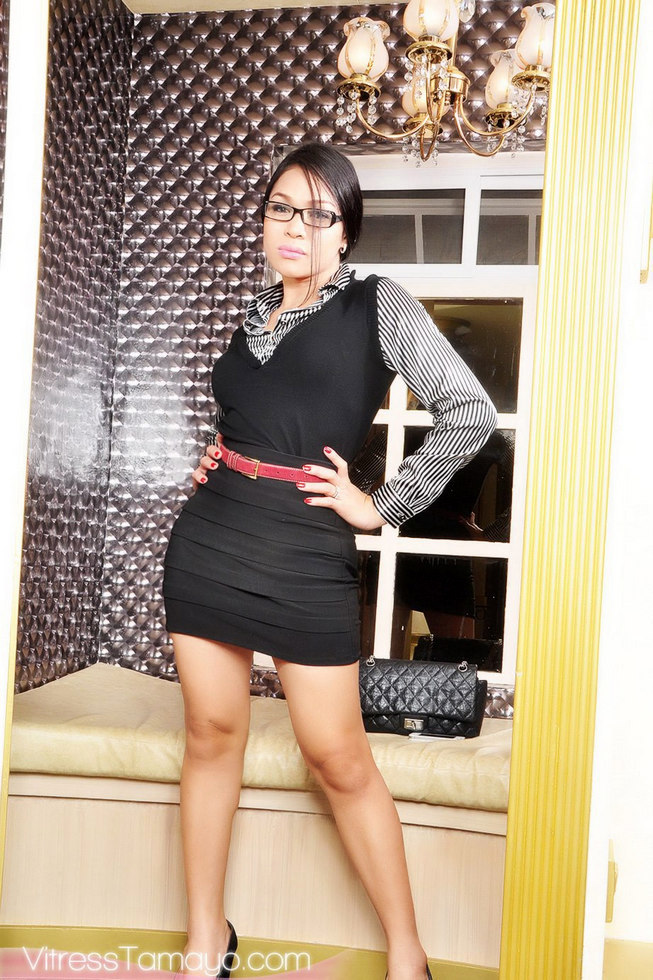 T-Girl Vivian Black - Secretary
