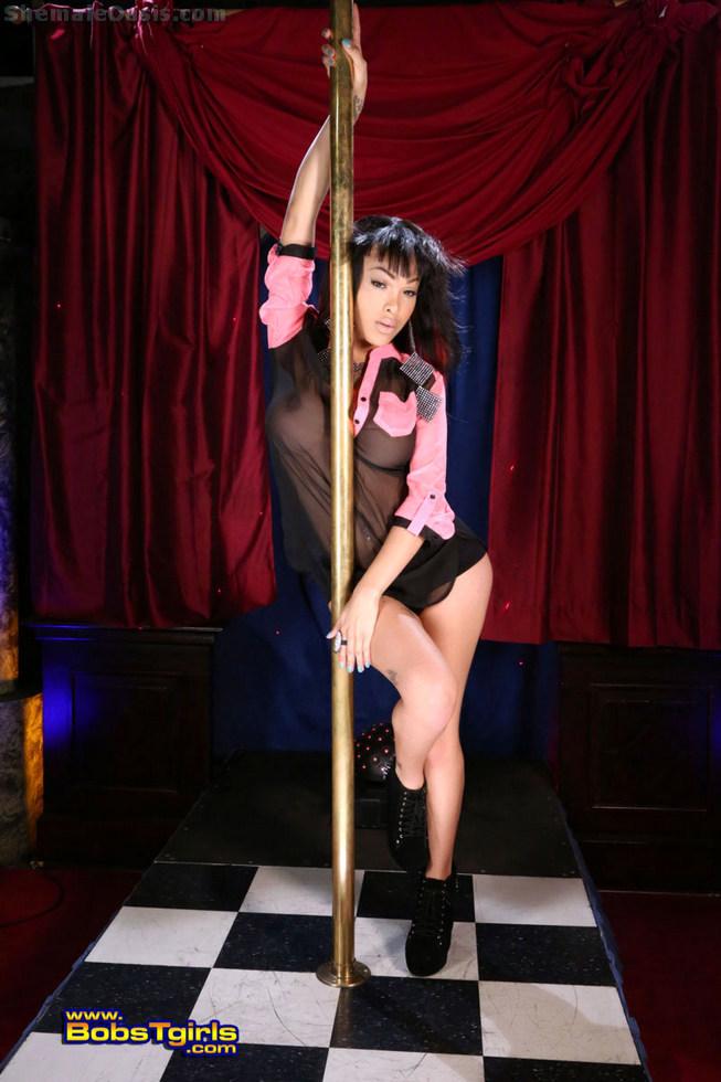 Tgirl Adriana Lynn Rush - Adriana Lynn Rush Pole Dancer