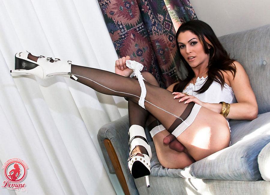 Tgirl Domino Presley - Lady In White