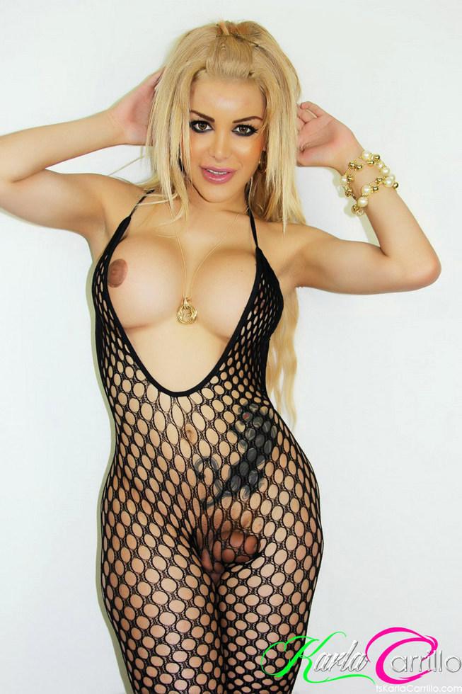 Tgirl Karla Carrillo - Hole Bodysuit