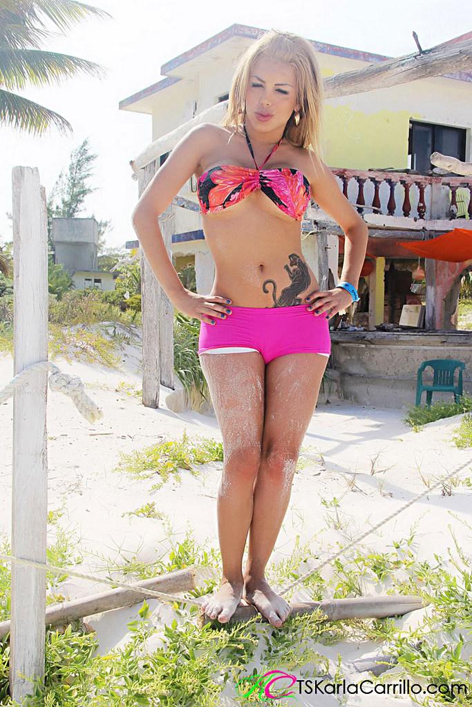 Tgirl Karla Carrillo - Pinkshortsbeach