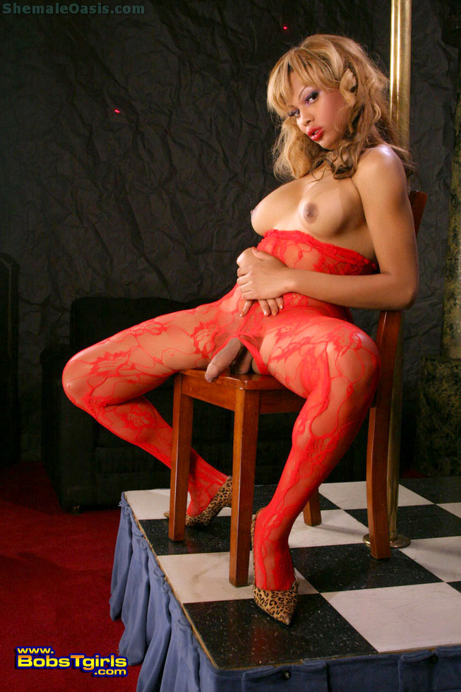 Tgirl Kourtney Kisses - Kourtney Kisses Body Stocking