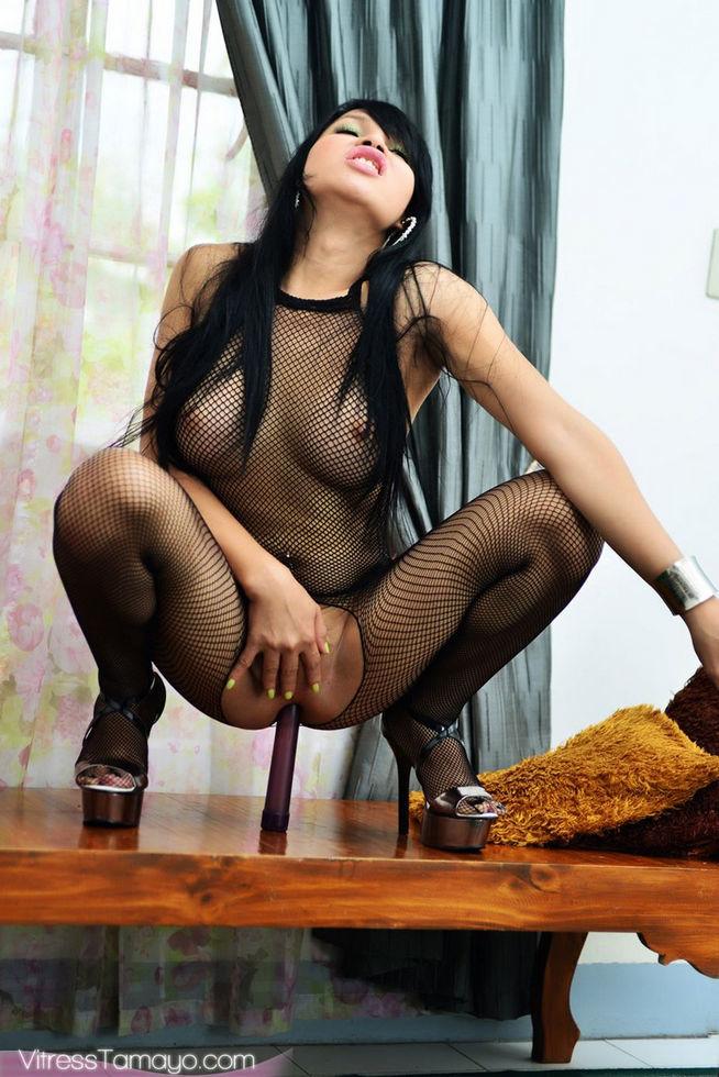 Tgirl Vitress Tamayo - Bodystocking