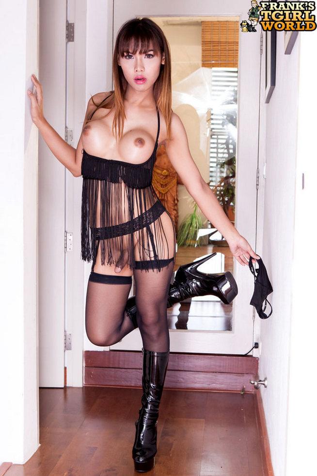 Thai Ladyboy Rita - Rita Flirtatious Thai In Stockings