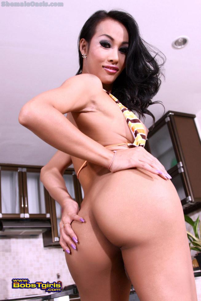 Thai T-Girl Nadya - Nadiya Stripes