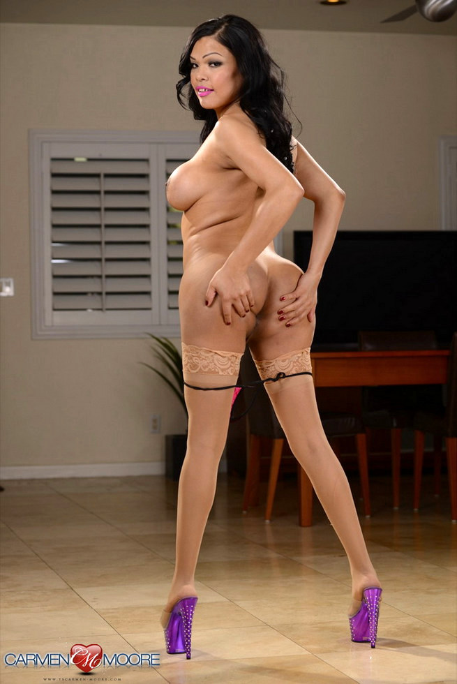 Transexual Carmen Moore - Perky And Purple