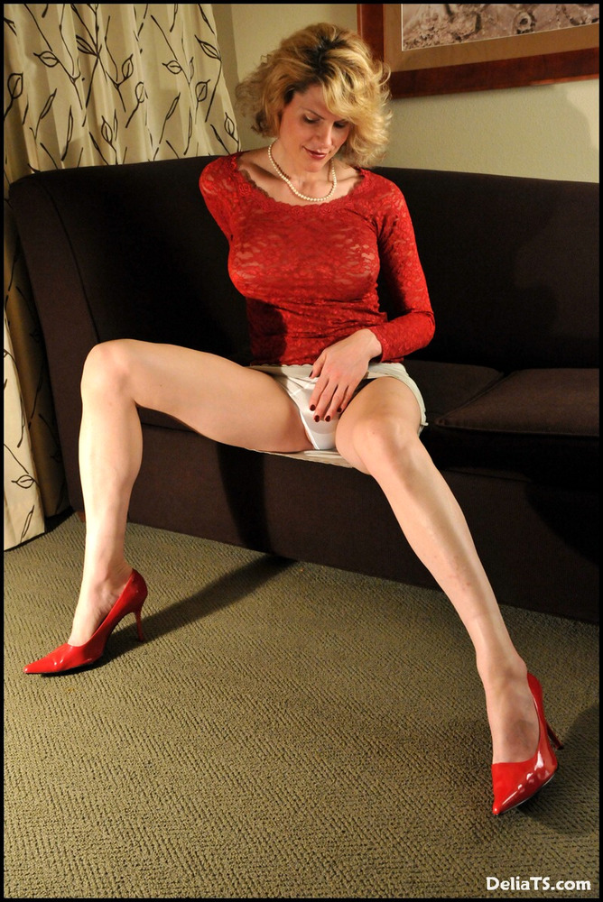 Transexual Delia The Panty Flasher!
