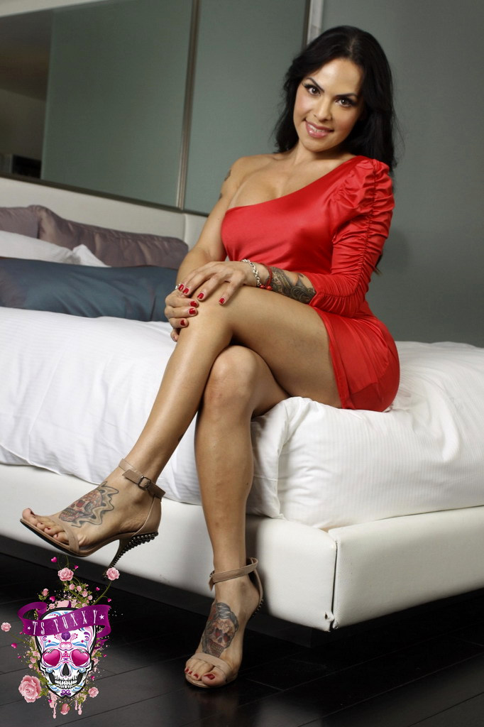 Transexual Foxxy - My Provoking Red Dress