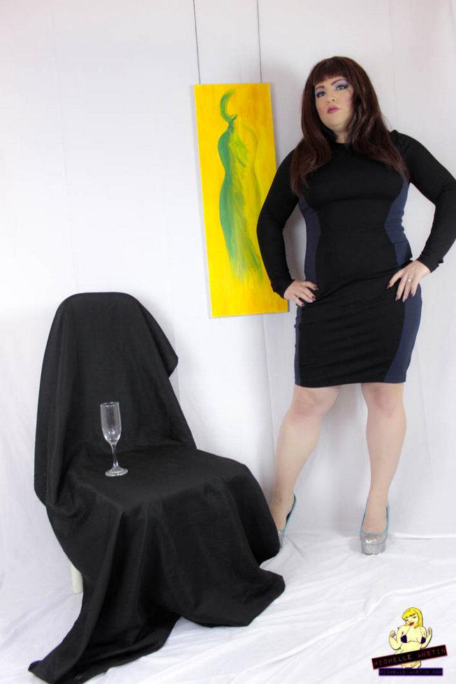 Transexual Michelle Austin - Black Dress